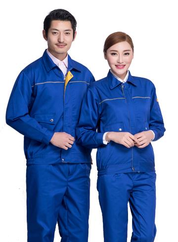 <b>厂家直销 车间厂服长袖套装耐磨耐脏厂家直销高级电焊服</b>图片